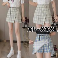 (8206 XL/XXL/XXXL)Venneta Skirt with belt/Rok Pendek/Korean Mini Skirt
