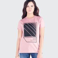 Kaos Lengan Pendek Wanita / Cool Pink Tee 12085P4PK - 10PM