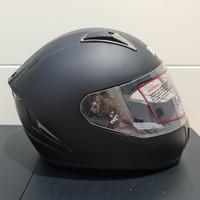 Helm Monsa JPN fullface hitam doff polos