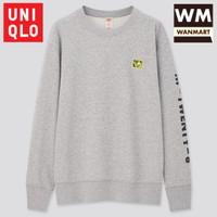 UNIQLO Men Sweater Pria Mickey x Keith Lengan Panjang Gray