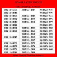 Nomor Cantik Simpati Kwartet 4G LTE Kartu Perdana Telkomsel