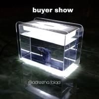 Aquarium mini fish tank akuarium akrilik kecil soliter ikan cupang