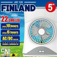 ARASHI AR 128 FINLAND Lampu LED Emergency Lamp + Kipas/Fan + Powerbank