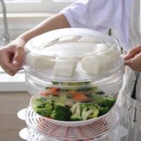 Gen 2 Rak Tudung Saji 4 Susun Makanan Food Cover Layer Mangkok Piring