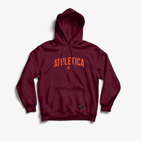 Athletica Official Shop - Pullover ATH Varsity Base Maroon   Hoodie