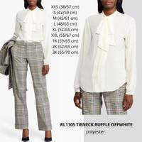 Baju Branded Wanita - LAUREN 1105 TIENECK RUFFLE OFFWHITE