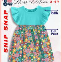 Dress Ruffle Anak by Snip Snap 2-6 tahun terbaru - warna J, 10
