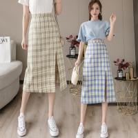 (8203)Alexa Front Slit Skirt/Korean Maxi Skirt/Rok Korea Wanita