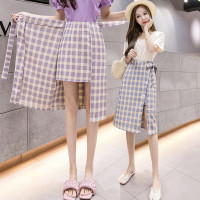 (8207)Charming Self Tie Ribbon Skirt/Korean Midi Skirt/Rok KoreaWanita