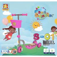 Scooter S-01 NIKEL PMB/ Otoped / Skuter Anak Roda 3