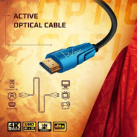 Kabel HDMI Fiber Optic Aktive. Versi 2.0- 4k Ultra HD - 50M. RVTECH