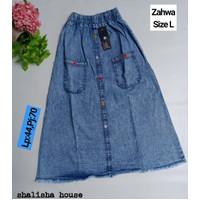 Rok jeans Panjang Anak size L