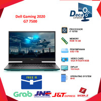 Laptop Dell Gaming 2020 G7 7500 i7 10750 16GB 1TBssd RTX2070 8GB