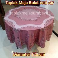 Taplak Meja Makan Bundar Bulat Plastik Anti Air Diameter 178 cm