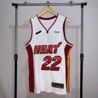 Jersey Basket Swingman NBA Miami Heat Jimmy Butler home putih merah