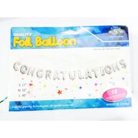 BALON / BALON HURUF / BALON FOIL CONGRATULATIONS