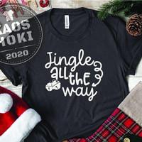 BAJU KAOS T-SHIRT PRIA WANITA ANAK EDISI NATAL CHRISTMAS JINGLE ALL TH