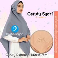 Hijab Jilbab Segiempat Diamond Crepe Syari Kerudung Segi empat Seragam - Warna DI NOTE