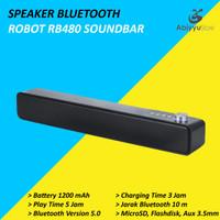 Speaker Bluetooth Robot RB480 5.0 Soundbar Support MicroSD - USB - Aux