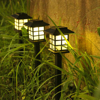 Lampu Taman Tancap LED Energy Solar Warm White (Lampu Kuning)