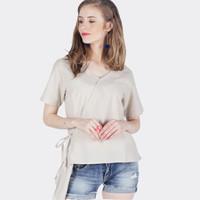 Kemeja Lengan Pendek / Pavel Cream Shirt 22483D5CM - Ninety Degrees