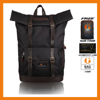 Tas Ransel Backpack RollTop Waterproof Pria URBAN FACTOR Jam Session