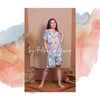 Short pajamas setelan wanita motif floral busui