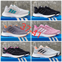 Terlaris Sepatu wanita adidas import sepatu running premium - 37, Hitam Pink