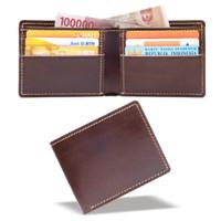 dompet kulit asli fashion pria vintage adventure bifold leather wallet