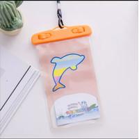 Sarung Waterproof / Tahan Air Handphone Motif Kartun - Lumba Lumba