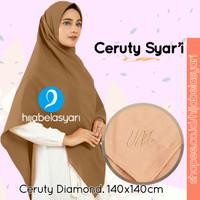 Crepe Syari Hijab Segi Empat Diamond Kerudung Jilbab umama Scarf - WARNA di NOTE