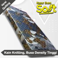 Kasur Busa Super Soft Tebal 14 cm Kain Springbed Full Quilting - 90 x 200 cm