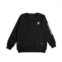 Athletica Official Shop - Crewneck Lucien Black   Sweater Pria
