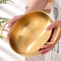 Gold Cooking Pot / Panci Masak Emas Stainless / Mangkok Saji Nordic