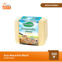 Keju Mozarella Block Greenfields 200 gr