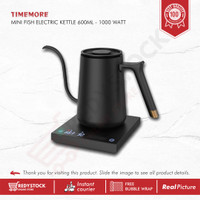 TIMEMORE MINI FISH ELECTRIC KETTLE 600ML - 1000W | TEKO KOPI ELEKTRIK