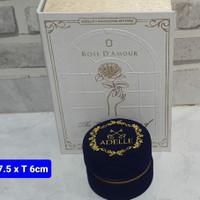 Tempat Cincin Adelle Bludru - Kotak Exclusive Rose D'Amour