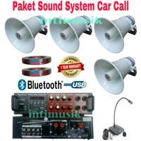 Paket Sound System Car Call Speaker Corong Toa 4 unit