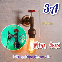 Fitting Lampu E27 - FITTING PIPA AIR III VINTAGE ANTIQUE DECORATION