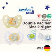 Dentistar Night Double Pacifier for Baby 6-14months +Steril Box Empeng - Rocket Lion