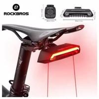 Rockbros Lampu Sepeda Lipat Seli MTB Roadbike Smart LED Laser Remote