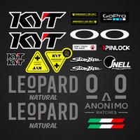 Stiker / Sticker Helm KYT Full Set Leopard - Dalla Porta