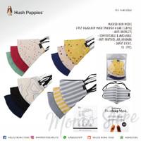 [HUSH PUPPIES] - Masker Non Medis Headloop/Hijab 3ply Branded Original