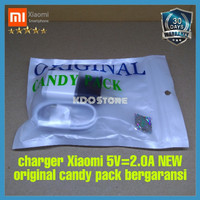 charger XIAOMI REDMI 1s NEW ORIGINAL 100% MICROUSB BERGARANSI /putih - Putih