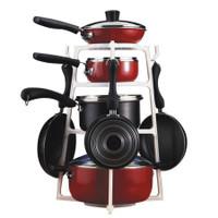 Pantree Holder Panci Rak Panci Susun 4 Lemari Dapur Tingkat Cookware A