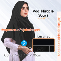 Hijab Jilbab Segiempat Voal Miracle Syari Khusus Warna Hitam