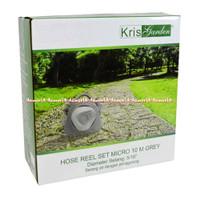 Kris Garden Hose Reel Set Micro 10M Grey Selang Air Dengan Penggulung