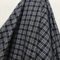 Kain Kotak Semi Wool ( Hitam Abstrak Garis Putih )