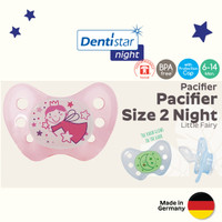 Dentistar Orthodontic Night Pacifier for Baby 6-14 months Empeng - Fairy Pink