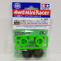 Small Dia. Semi Pneumatic Tires w/Wheels - 15239